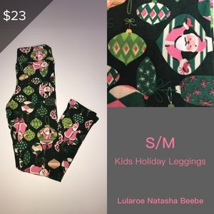 Kitty Cats Scarves Lularoe Kids' S//M Leggings Christmas Holiday Print 2T-6